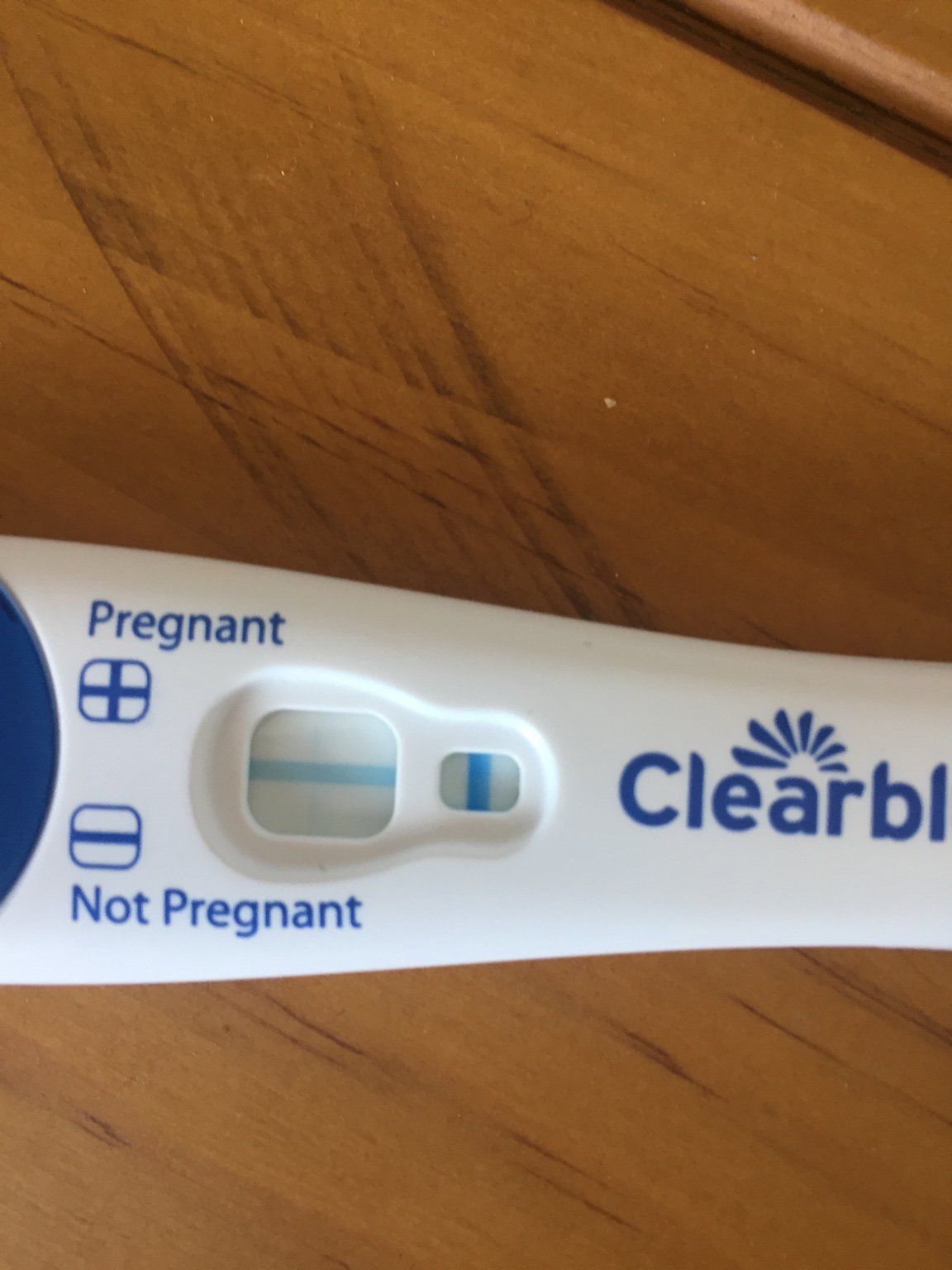 Very faint positive line on clear blue test | Netmums
