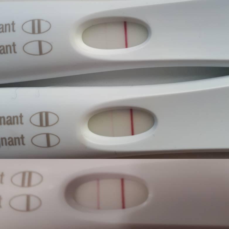 positive pregnancy test faint line pictures